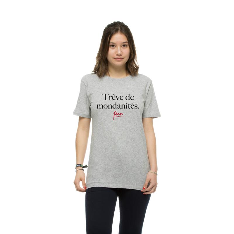 T-shirt gris femme Trves de mondanitŽs