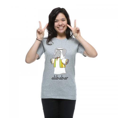 T-shirt gris femme Alibabar