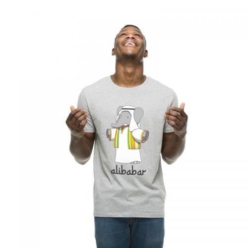 T-shirt gris homme Alibabar