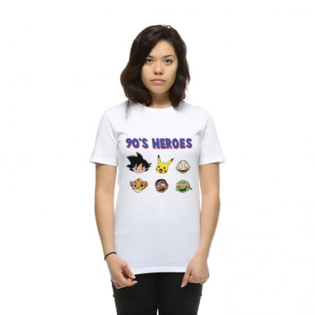 T-shirt femme 90's Heroes